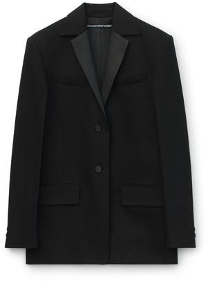 Collection Boxy Tuxedo Denim Blazer