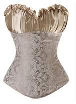 Zhitunemi Women's Wedding Burlesque Corset Bustier Bridal Lingerie Bodyshaper Top 3X-Large