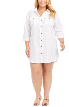Dotti Plus Size Travel Muse Shirt Cover-Up Dress Women's Swimsuit