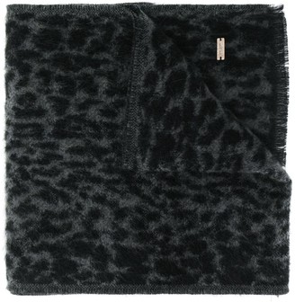Saint Laurent Leopard Pattern Scarf