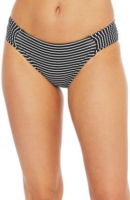 La Blanca Stripe Shirred Side Bikini Bottoms