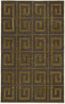 Payne Rizzy Home Vicki Collection Greek Key Rug in Grey