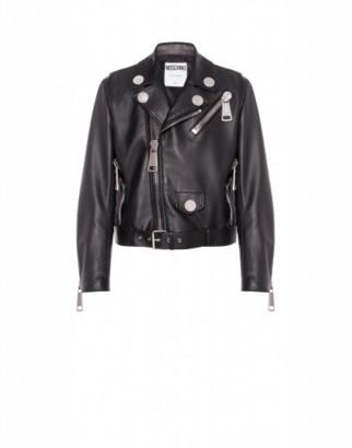 Moschino Nappa Leather Biker Macro Details