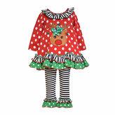 Bonnie Jean Reindeer Top and Leggings Set - Preschool Girls 4-6x
