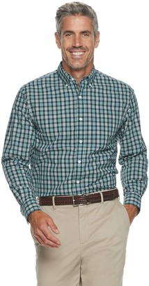 Croft & Barrow Men's Plaid Easy-Care Button-Down Shirt