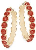Nanette Lepore Stone-Accented Hoop Earrings, 1.25 in