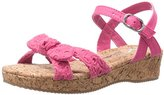 Nina Laurel Low Wedge Sandal (Little Kid/Big Kid)