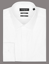 Autograph Cotton Rich Tailored Fit Shirt With Stretch
