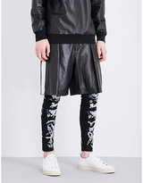 Givenchy Star-appliqué Leather Bermuda Shorts