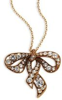 Marc Jacobs Crystal Bow Pendant Necklace