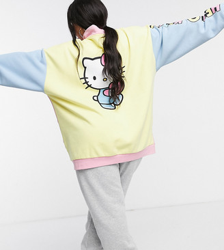 New Girl Order Curve x Hello Kitty oversized sweatshirt in colorblock