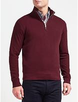 Gant Sacker Cotton Rib Half Zip Sweatshirt