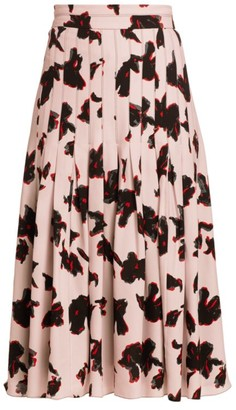 Proenza Schouler Floral Pleated Midi Skirt