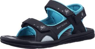 Body Glove Women's Trek Sandal Black/Oasis Blue 10 M US