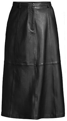 Seventy Leather Midi Skirt