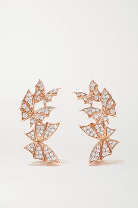 Stephen Webster Fly By Night Wings 18-karat Rose Gold Diamond Earrings - one size