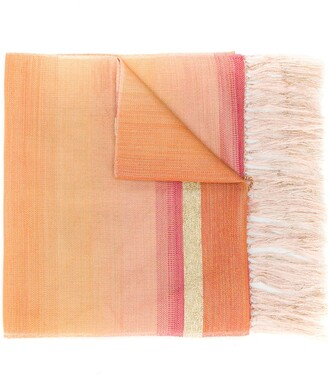 Issey Miyake Pre Owned 1990's Fringed Striped Scarf