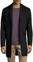Wesc Men's Wool Solid Notch Lapel Top Coat