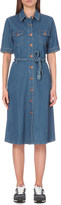 MiH Jeans tie waist denim dress