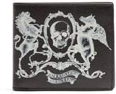 Alexander McQueen Coat of Arms-print leather wallet