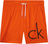 Calvin Klein Neon logo swim shorts 4-16 years