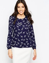 Sugarhill Boutique Elizabeth Stag Print Top