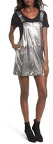 Blank NYC Women's Blanknyc Metallic Overall Minidress