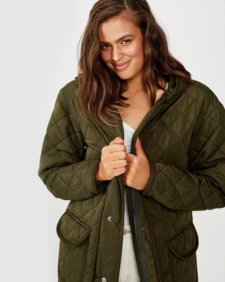 Cotton On Quilted Hooded Parka