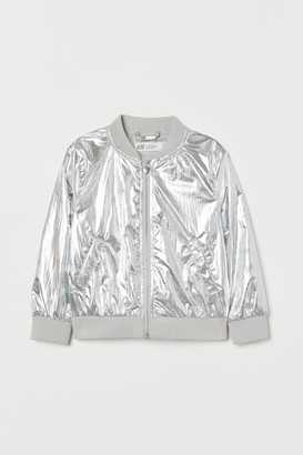 H&M Bomber Jacket - Silver