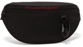Alexander McQueen Logo-embroidered Technical Cross-body Bag - Black Red