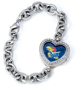Game Time Women's COL-HEA-KAN NCAA Heart Series Kansas Jayhawks Watch