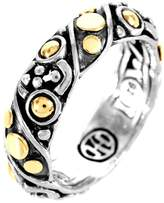 John Hardy Women's Jaisalmer Dot Gold & Silver Twist Band Ring