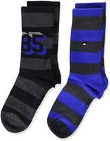 Tommy Hilfiger Boy's TH 1985 2P Calf Socks,pack of 2