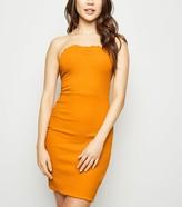 New Look Deep Frill Trim Strapless Mini Dress