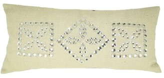 Design Accents LLC Jewel Frame Jute Throw Pillow Design Accents LLC