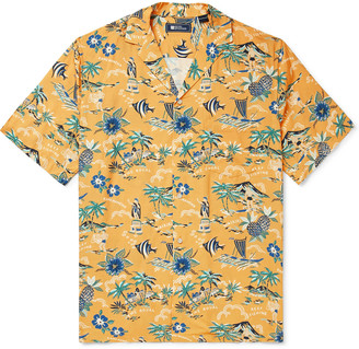 Reyn Spooner Camp-Collar Printed Woven Shirt