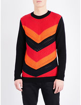 Balmain Crochet-knit Cotton Jumper