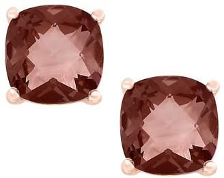 Effy June Smoky Quartz 14K Rose Gold Stud Earrings