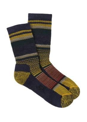 Woolrich Textured Stripe Crew Socks