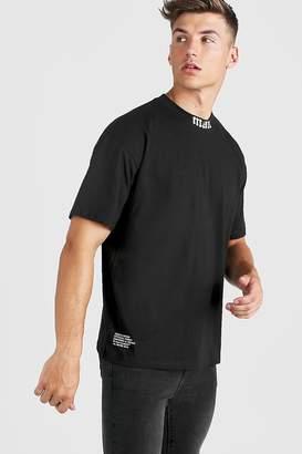 boohoo Gothic MAN Oversized Extended Neck T-Shirt