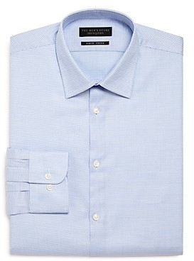 The Men's Store At Bloomingdale's The Men's Store Micro Pattern Stretch Slim Fit Dress Shirt