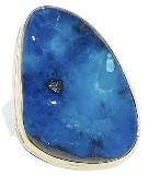 Jamie Joseph Deep Blue Boulder Opal Ring