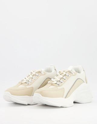 Raid Verona chunky trainers in beige