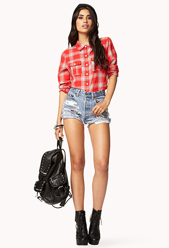 Forever 21 Off-Duty Plaid Shirt