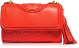 Tory Burch Fleming Red Volcano Leather Micro Shoulder Bag