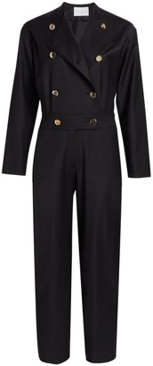 Carolina Ritzler Double Breasted Wool Jumpsuit