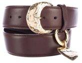 Saint Laurent Metal Heart Leather Belt