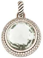 David Yurman Prasiolite & Diamond Cerise Pendant