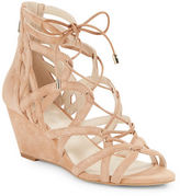 Kenneth Cole New York Dylan Suede Lace-Up Caged Wedge Sandals