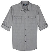 Murano Big & Tall Roll-Sleeve Ultimate Modern Stretch Comfort Slim Check Sportshirt